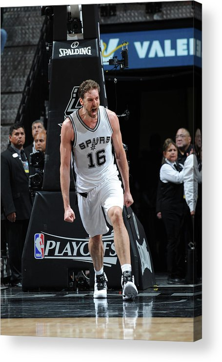 Game Two Acrylic Print featuring the photograph Pau Gasol by Mark Sobhani