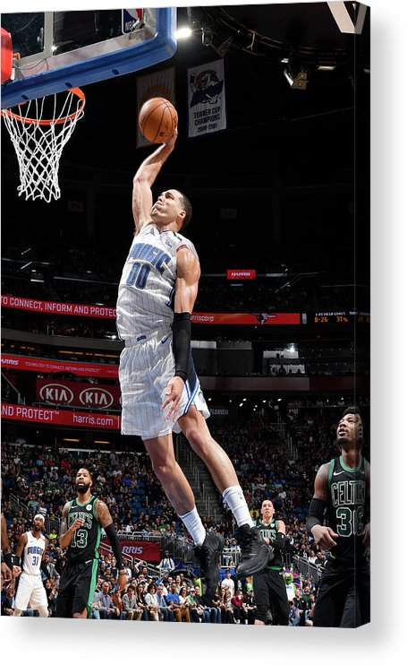 Nba Pro Basketball Acrylic Print featuring the photograph Aaron Gordon by Fernando Medina