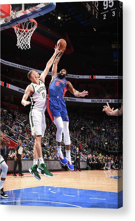 Playoffs Acrylic Print featuring the photograph Andre Drummond by Chris Schwegler