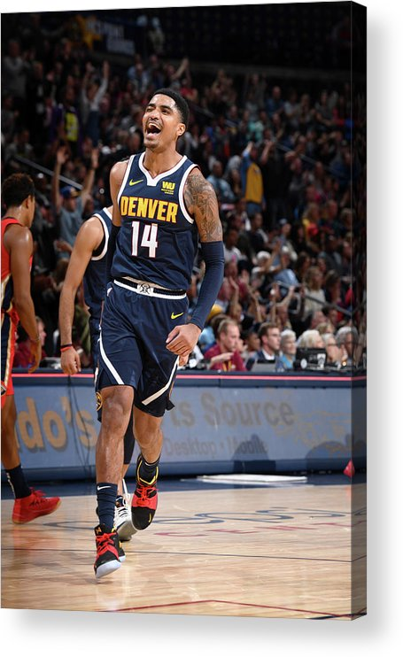 Nba Pro Basketball Acrylic Print featuring the photograph Gary Harris by Garrett Ellwood