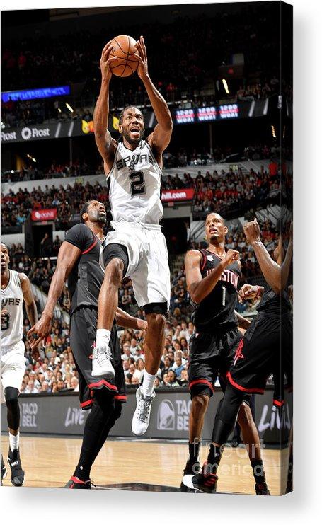 Playoffs Acrylic Print featuring the photograph Kawhi Leonard by Jesse D. Garrabrant
