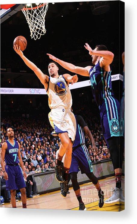 Nba Pro Basketball Acrylic Print featuring the photograph Klay Thompson by Noah Graham