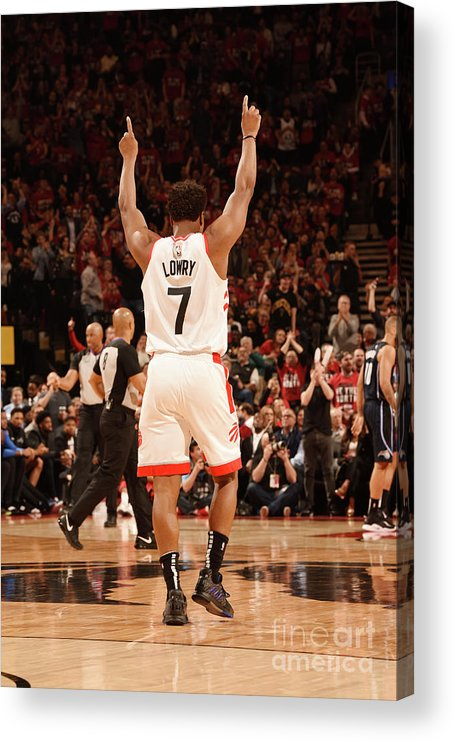 Playoffs Acrylic Print featuring the photograph Kyle Lowry by Ron Turenne