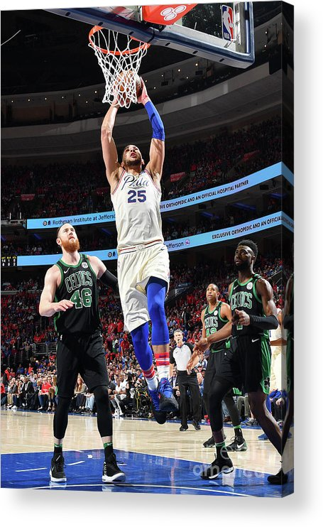 Playoffs Acrylic Print featuring the photograph Ben Simmons by Jesse D. Garrabrant