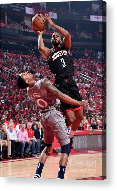 Playoffs Acrylic Print featuring the photograph Chris Paul by Bill Baptist
