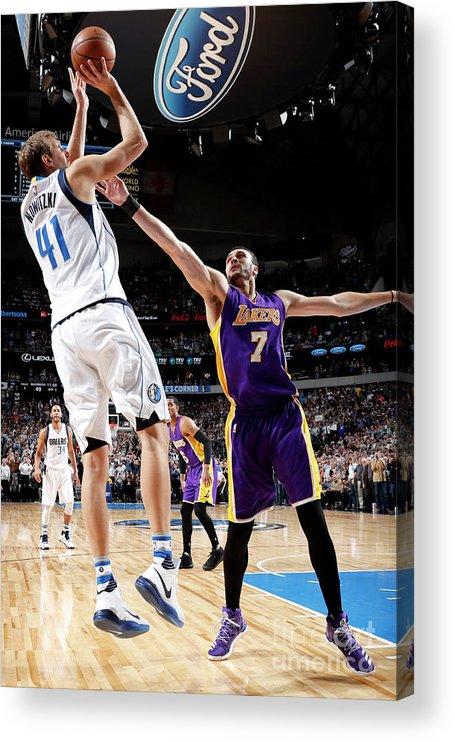 Nba Pro Basketball Acrylic Print featuring the photograph Dirk Nowitzki by Glenn James