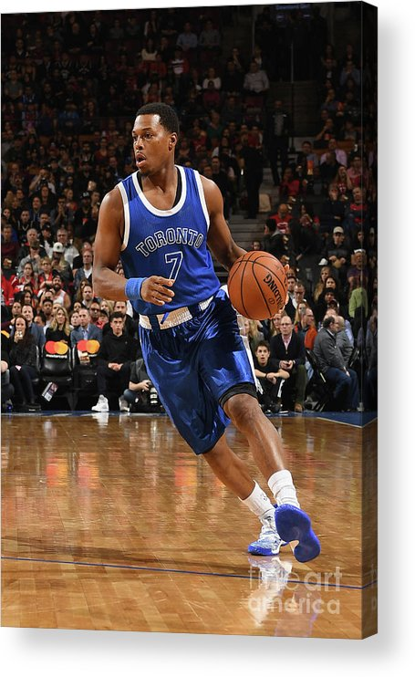 Nba Pro Basketball Acrylic Print featuring the photograph Kyle Lowry by Ron Turenne