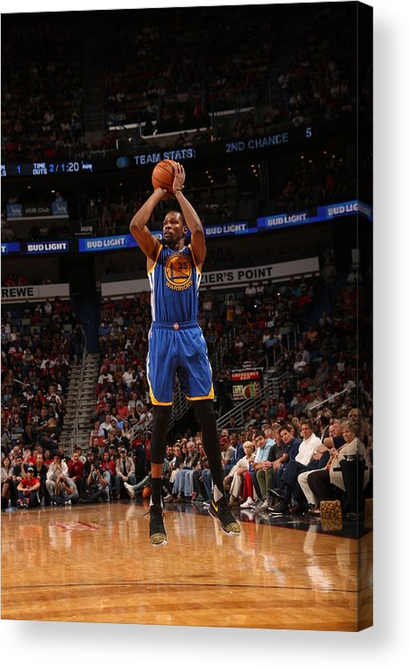 Smoothie King Center Acrylic Print featuring the photograph Kevin Durant by Layne Murdoch