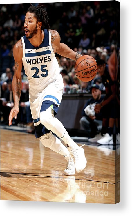 Nba Pro Basketball Acrylic Print featuring the photograph Derrick Rose by David Sherman