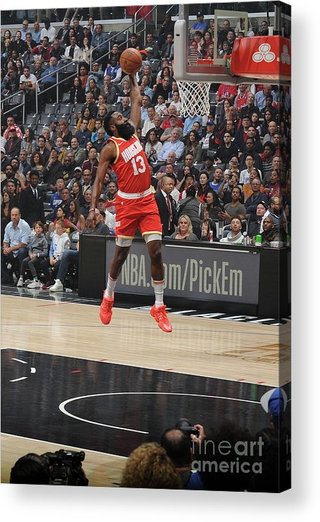 Nba Pro Basketball Acrylic Print featuring the photograph James Harden by Andrew D. Bernstein