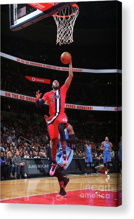 Nba Pro Basketball Acrylic Print featuring the photograph John Wall by Ned Dishman