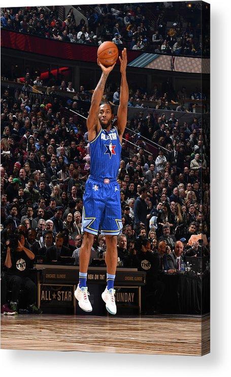 Nba Pro Basketball Acrylic Print featuring the photograph Kawhi Leonard by Jesse D. Garrabrant