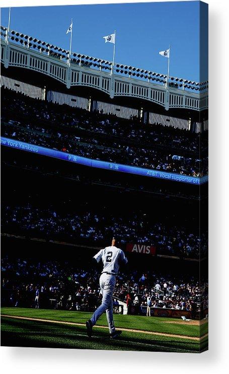American League Baseball Acrylic Print featuring the photograph Derek Jeter by Elsa