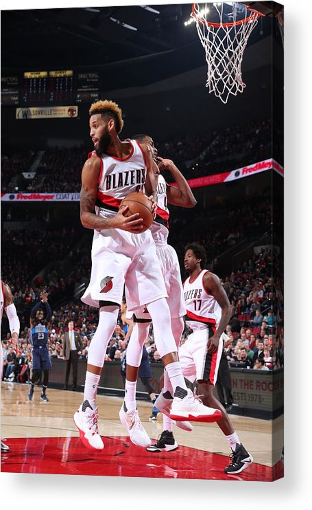 Nba Pro Basketball Acrylic Print featuring the photograph Allen Crabbe by Sam Forencich
