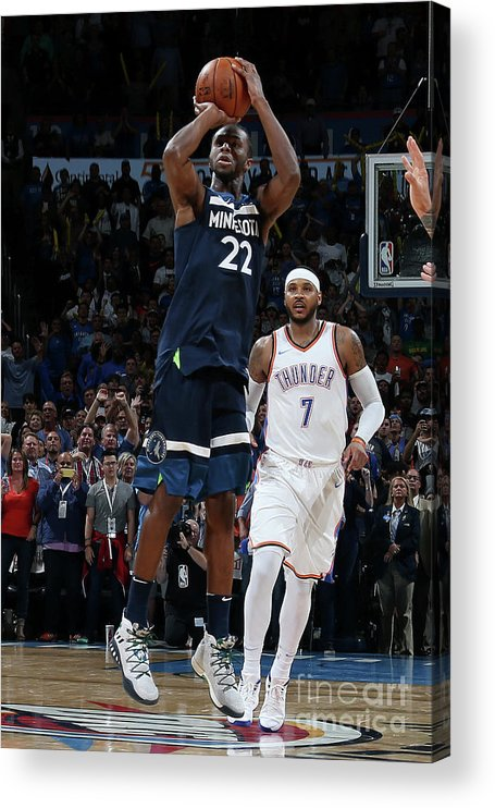 Nba Pro Basketball Acrylic Print featuring the photograph Andrew Wiggins by Layne Murdoch