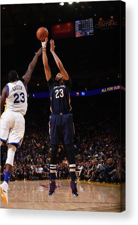 Nba Pro Basketball Acrylic Print featuring the photograph Anthony Davis by Noah Graham