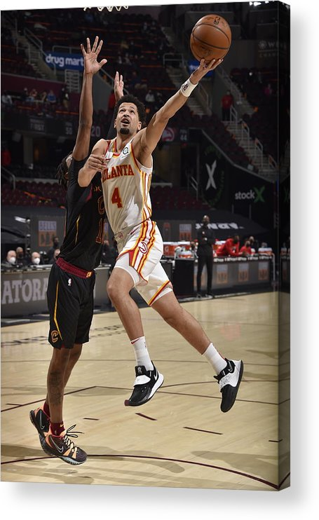 Nba Pro Basketball Acrylic Print featuring the photograph Atlanta Hawks v Cleveland Cavaliers by David Liam Kyle
