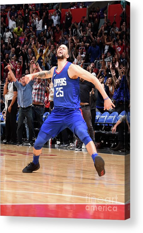 Nba Pro Basketball Acrylic Print featuring the photograph Austin Rivers by Andrew D. Bernstein
