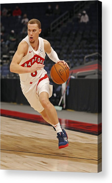 Nba Pro Basketball Acrylic Print featuring the photograph Boston Celtics v Toronto Raptors by Scott Audette