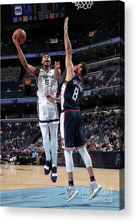 Nba Pro Basketball Acrylic Print featuring the photograph Bruno Caboclo by Joe Murphy