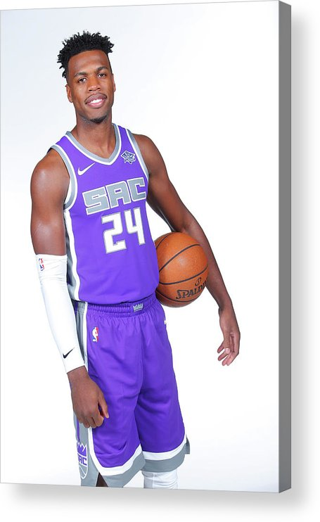 Media Day Acrylic Print featuring the photograph Buddy Hield by Rocky Widner