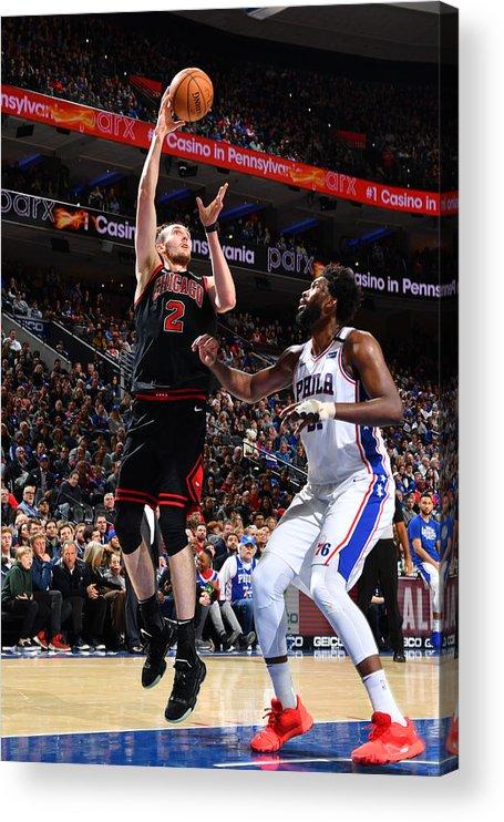 Nba Pro Basketball Acrylic Print featuring the photograph Chicago Bulls v Philadelphia 76ers by Jesse D. Garrabrant