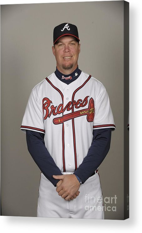 Media Day Acrylic Print featuring the photograph Chipper Jones by Tony Firriolo