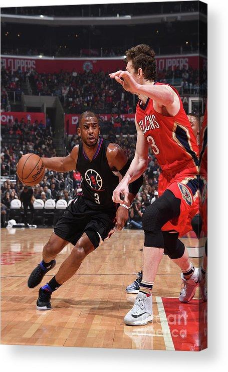 Nba Pro Basketball Acrylic Print featuring the photograph Chris Paul by Adam Pantozzi