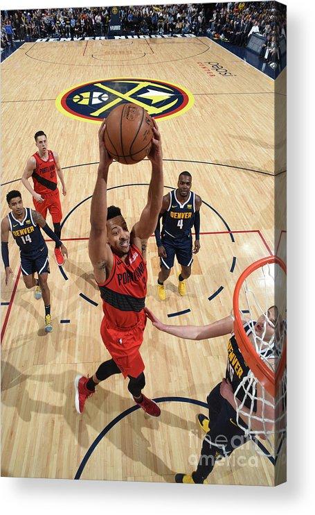Playoffs Acrylic Print featuring the photograph C.j. Mccollum by Garrett Ellwood