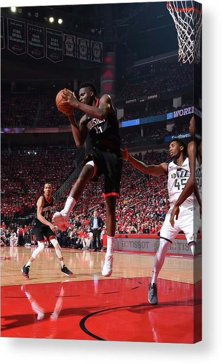 Playoffs Acrylic Print featuring the photograph Clint Capela by Andrew D. Bernstein