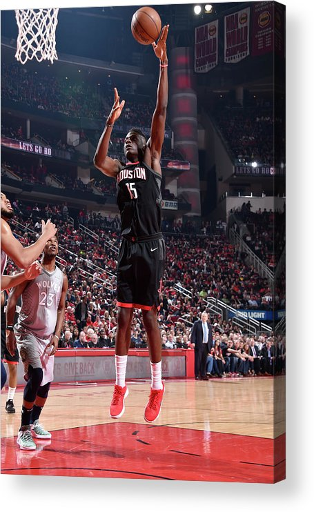 Playoffs Acrylic Print featuring the photograph Clint Capela by Bill Baptist