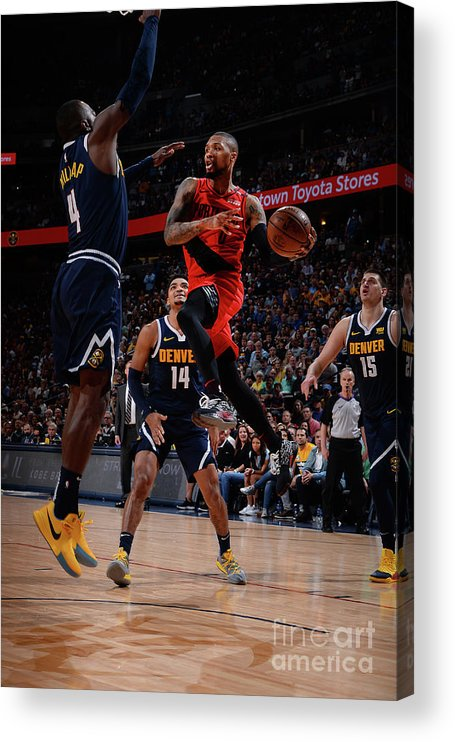 Playoffs Acrylic Print featuring the photograph Damian Lillard by Bart Young
