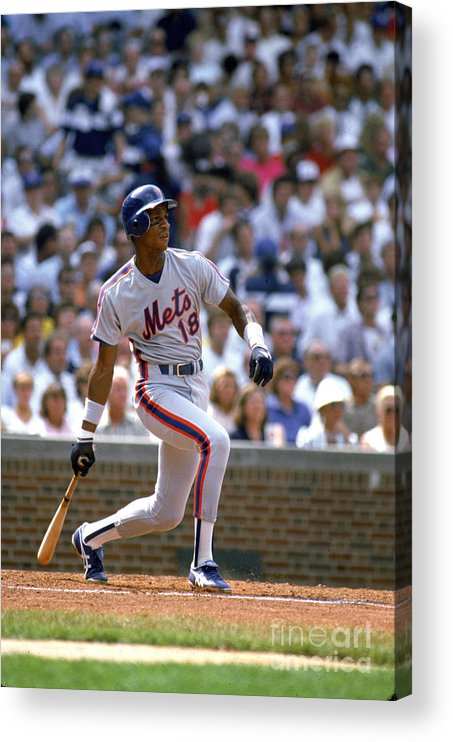 1980-1989 Acrylic Print featuring the photograph Darryl Strawberry by Ron Vesely