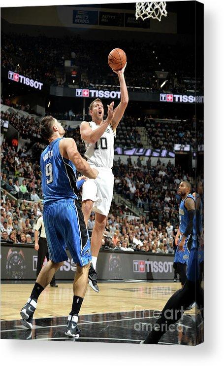 Nba Pro Basketball Acrylic Print featuring the photograph David Lee by Mark Sobhani