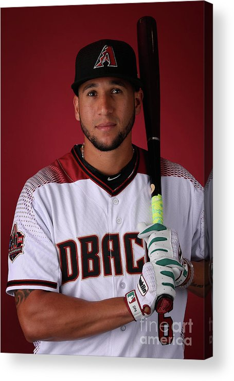 Media Day Acrylic Print featuring the photograph David Peralta by Christian Petersen