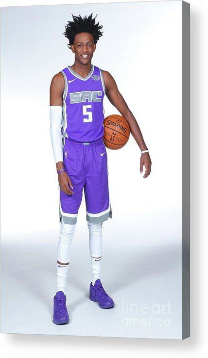 Media Day Acrylic Print featuring the photograph De'aaron Fox by Rocky Widner