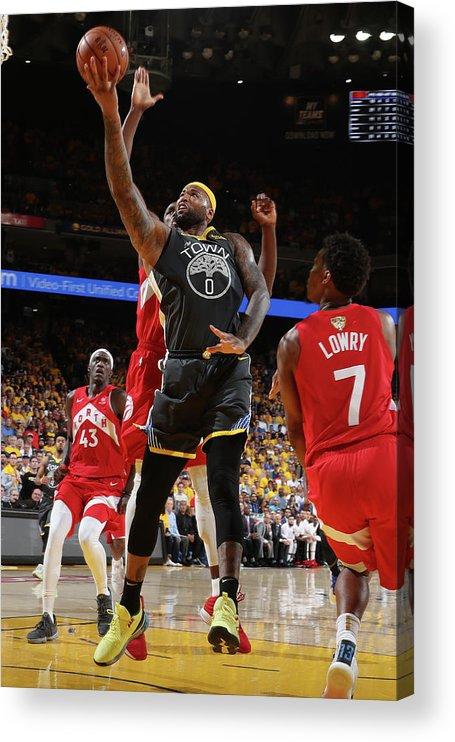Playoffs Acrylic Print featuring the photograph Demarcus Cousins by Nathaniel S. Butler