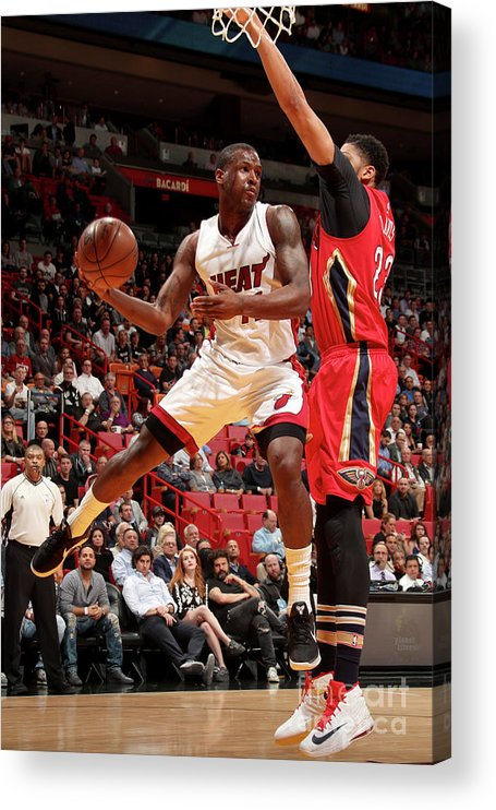 Nba Pro Basketball Acrylic Print featuring the photograph Dion Waiters by Issac Baldizon