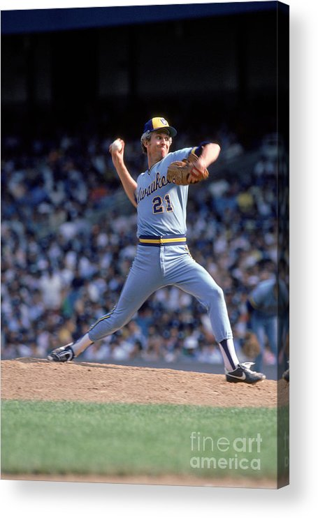 1980-1989 Acrylic Print featuring the photograph Don Sutton by Rich Pilling