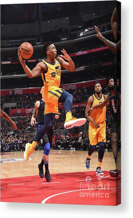 Nba Pro Basketball Acrylic Print featuring the photograph Donovan Mitchell by Andrew D. Bernstein