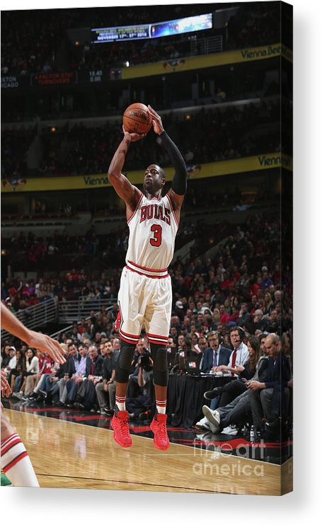 Nba Pro Basketball Acrylic Print featuring the photograph Dwyane Wade by Gary Dineen