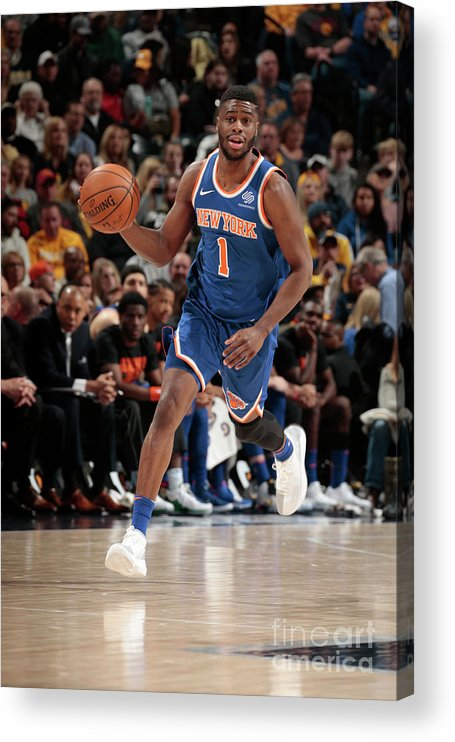 Nba Pro Basketball Acrylic Print featuring the photograph Emmanuel Mudiay by Ron Hoskins