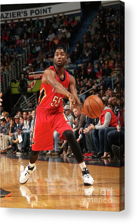 Smoothie King Center Acrylic Print featuring the photograph E'twaun Moore by Layne Murdoch