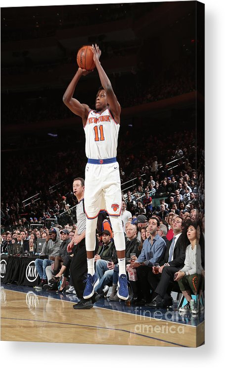 Sports Ball Acrylic Print featuring the photograph Frank Ntilikina by Nathaniel S. Butler