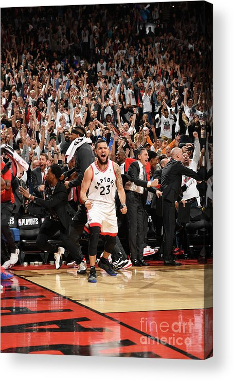 Playoffs Acrylic Print featuring the photograph Fred Vanvleet by Ron Turenne