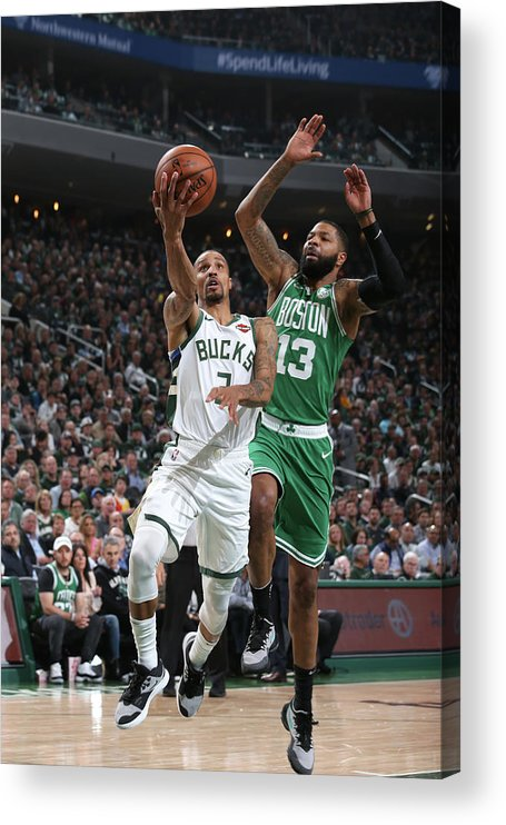 Playoffs Acrylic Print featuring the photograph George Hill by Gary Dineen