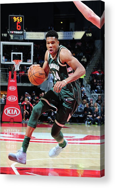 Sport Acrylic Print featuring the photograph Giannis Antetokounmpo by Scott Cunningham
