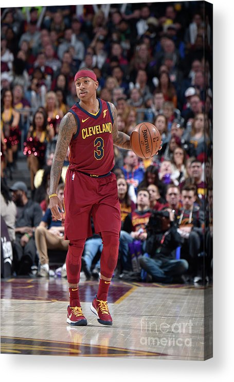 Nba Pro Basketball Acrylic Print featuring the photograph Isaiah Thomas by David Liam Kyle