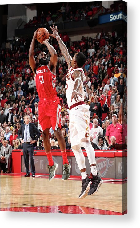 Nba Pro Basketball Acrylic Print featuring the photograph James Harden by Joe Murphy