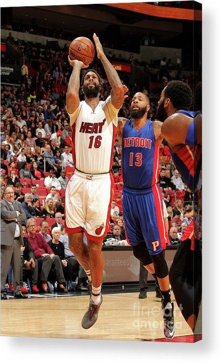 Nba Pro Basketball Acrylic Print featuring the photograph James Johnson by Oscar Baldizon